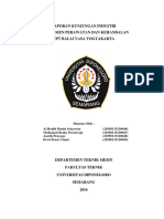 Laporan Kunjungan Industri UPT Balai Yasa Yogyakarta