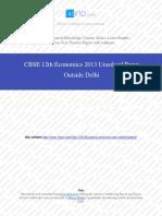 Economics 2013 Unsolved Paper Outside Delhi