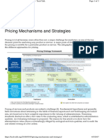 Pricing Mechanisms and Strateg