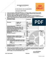 Declaratie de Performanta BCA CELCO Structoterm