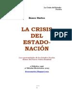 La Crisis del Estado Nación por Denes Martos