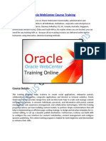 Oracle Webcenter Certification Course Training Online