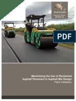 AP-R517-16-Maximising the Use of Reclaimed Asphalt Pavement in Asphalt Mix Design Field Validation
