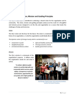 Vision Mission and Guiding Principles