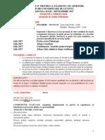 Precizari Admitere Studii Licenta Psihologie 2017