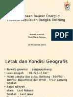 unhan Perencanaan Bauran Energi Di Provinsi Kepulauan Bangka Belitung