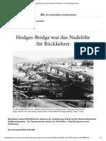 Hodges-Bridge War Das Nadelöhr Für Rückkehrer Bonn