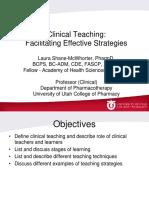 Clinical Teaching - Effective Strategies_LauraSM 2014 Concious