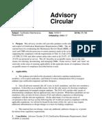 FAA Advisory Circular 25-19A