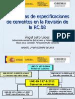 1 Las Normas de Especificaciones - RC 08