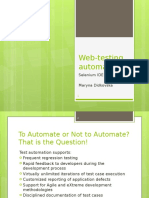 Web Testing Automation Selenium Lesson1