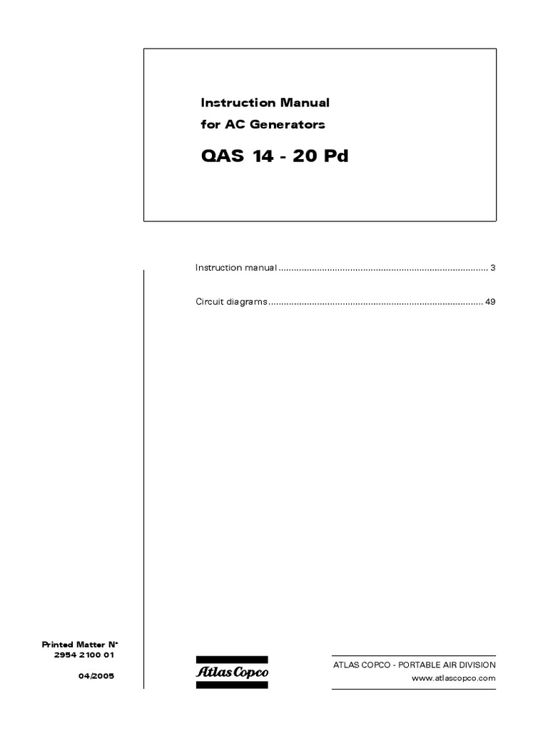 Qc1001 Switch Safety Champion Generator Wiring Diagram Atlas Copco Generator  Wiring Diagram
