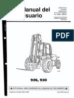 Manual de Usuario Jcb 926 o 930