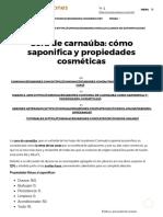 Cera de Carnauba_ Cómo Saponifica y Propiedades Cosméticas _ Cómo Hacer Jabones