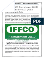 IFFCO Recruitment 2017