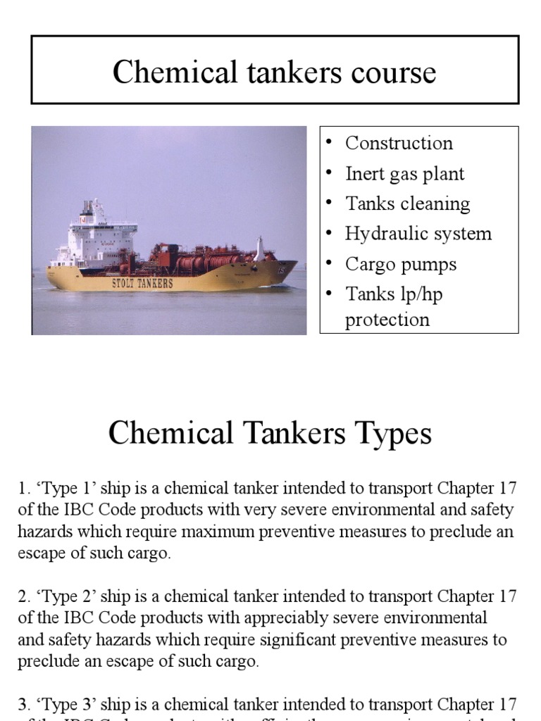 Chemical Tankers Course | Oil Tanker | Industries