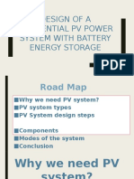 Design of a Residential PV Power System