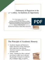 Academic Dishonesty & Plagiarism 21st Century
