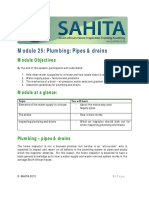Module 25 SAHITA Plumbing Pipes Drains