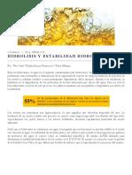 Hidrólisis y Estabilidad Hidrolítica -