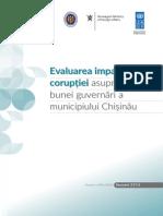 Evaluarea Impactului Corupyiei Asupra Bunei GuvernIri a Municipiului ChiuinIu