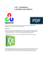 OpenCV With QT