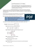Determinnant 3 by 3 Matrix Notes