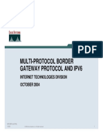 Multi-Protocol BGP and IPv6 (PDF