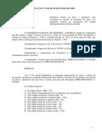[2009] Resolução CONTRAN 318 Pesos Comprimentos Internacional