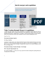 Valuation of Mergers and Acquisition