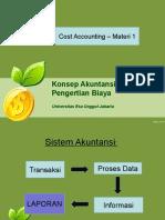 Temu 1 Konsep Akuntansi Biaya Pengertian Biaya