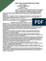 Código Del Niño y Del Adolescente en El Perú