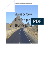 Manual de Presupuesto de Carreteras