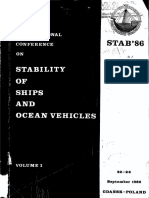 Stability Conference 1986 Proceedings Vol I