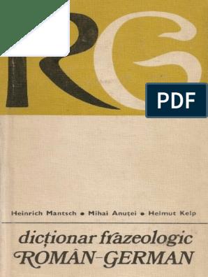 Dictionar Frazeologic Român German