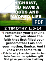 In Christ You Have a Focus and Favored Life. Bishop Wisdom 110616
