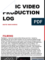 MV Production Log