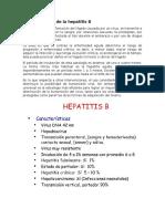 Características de La Hepatitis B