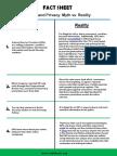 Broadband Privacy Fact Sheet - Myth vs Reality