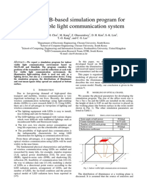 lifi matlab pdf | Light Emitting Diode | Root Mean Square