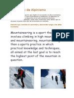 Definición de Alpinismo