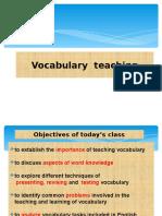 Vocabulary Teaching 2017