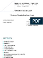Electronic Mosquito Repellent Circuit Ppt