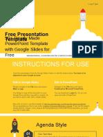 Launch Space Rocket Google Slides Presentation