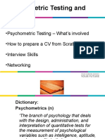 Psychometric and Interview