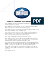 Agenda for Summit With Chinese President Xi Jinping