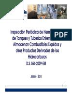 Inspeccion Periodica de Hermeticidad de Tanques y Tuberias Enterradas
