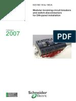 NG160 - 16 to 160A Modular Incoming Circuit Brakers