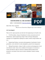 Geotechnical or Geomechanical