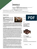 Alpha Laws _ Politically Incorrect Publications - Alpha Training